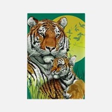 Tiger and Cub Rectangle Magnet