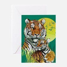 Tiger and Cub Greeting Card