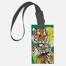 Tiger and Cub Luggage Tag