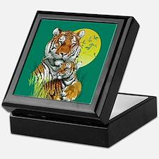 Tiger and Cub Keepsake Box
