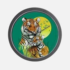 Tiger and Cub Wall Clock