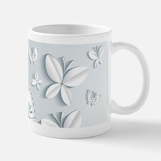 White Popup Butterflies Mug