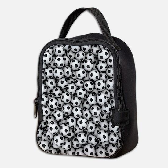 Soccer Balls Neoprene Lunch Bag