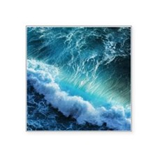 "STORM WAVES Square Sticker 3"" x 3"""