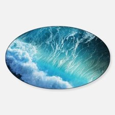 STORM WAVES Sticker (Oval)