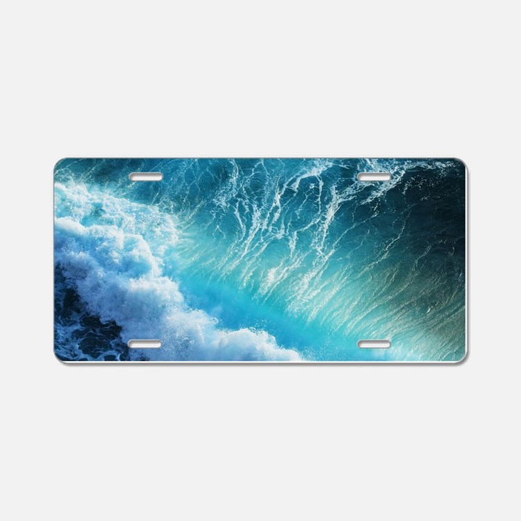 STORM WAVES Aluminum License Plate