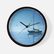 Sailboat Night Wall Clock