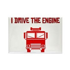 I Drive The Engine Rectangle Magnet