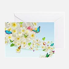 Plumeria Butterflies Greeting Card