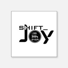 "Cute Red shift Square Sticker 3"" x 3"""