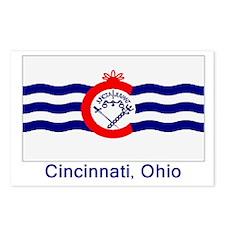 Cincinnati OH Flag Postcards (Package of 8)