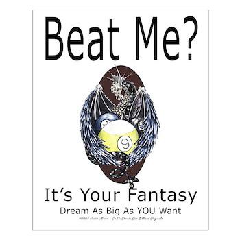 Beat Me Dragon Fantasy Small Poster