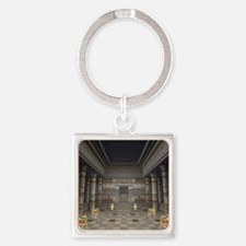 Ancient Egyptian Hall Square Keychain