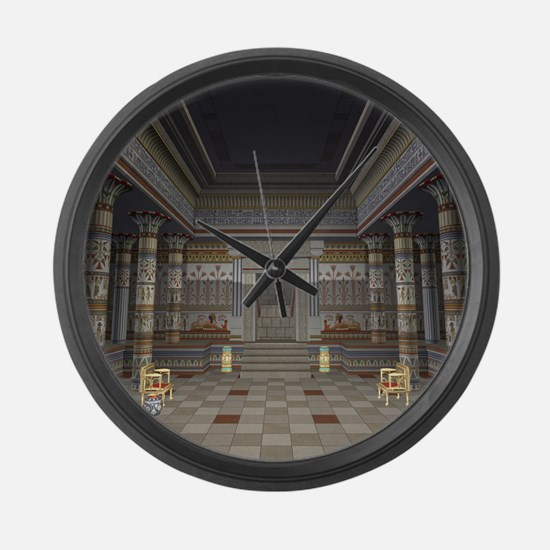 Ancient Egyptian Hall Large Wall Clock
