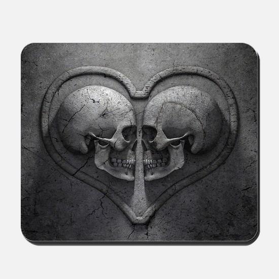 Gothic Skull Heart Mousepad