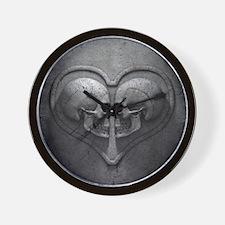 Gothic Skull Heart Wall Clock