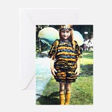 1920s Child in Bee costume Greeting Card
