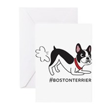 Unique Boston terrier Greeting Cards (Pk of 10)