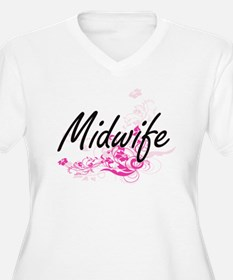 Midwife Artistic Job Design with Plus Size T-Shirt