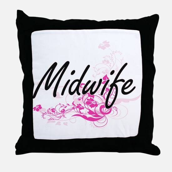 Midwife Artistic Job Design with Flow Throw Pillow