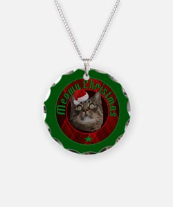Kitty Cat Meowy Christmas Necklace