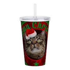 Kitty Cat Meowy Christ Acrylic Double-wall Tumbler