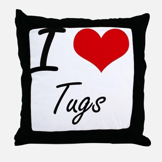 I love Tugs Throw Pillow