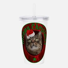funny cat Meowy Christ Acrylic Double-wall Tumbler