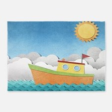 Paper Boat 5'x7'Area Rug