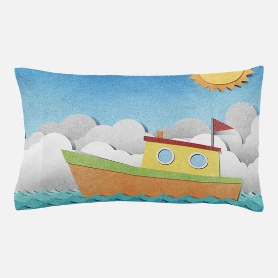 Paper Boat Pillow Case