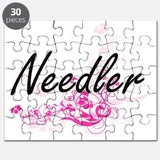 Needler Artistic Job Design with Flowers Puzzle