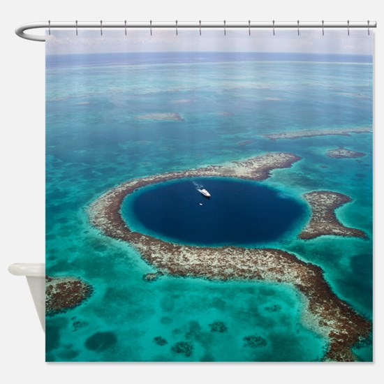 GREAT BLUE HOLE 1 Shower Curtain