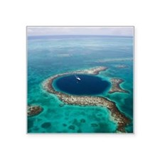 "GREAT BLUE HOLE 1 Square Sticker 3"" x 3"""
