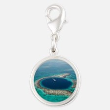 GREAT BLUE HOLE 1 Silver Round Charm