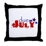 Due in July Throw Pillow