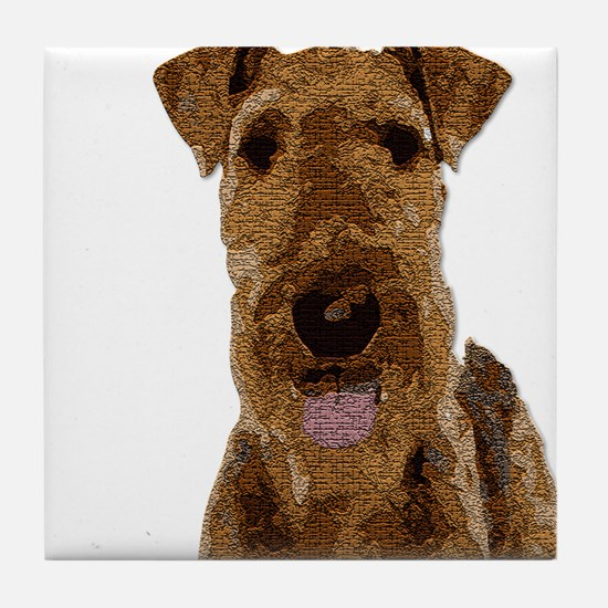 Airedale Painted Tile Coaster
