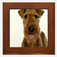 Airedale Painted Framed Tile