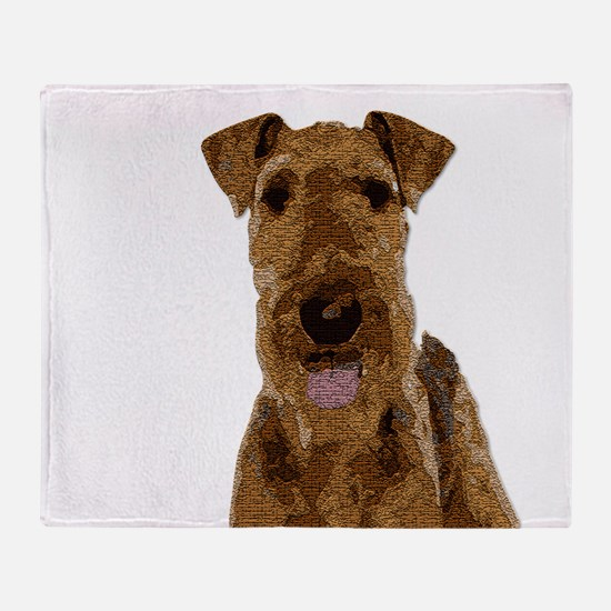 Airedale Painted Throw Blanket