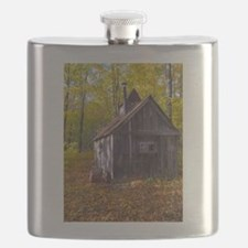 Old Quebec Maple Syrup Cabin Flask