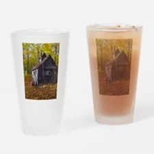 Old Quebec Maple Syrup Cabin Drinking Glass