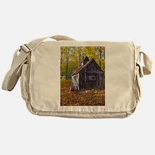 Old Quebec Maple Syrup Cabin Messenger Bag