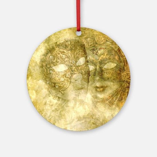 Venetian Masks Round Ornament