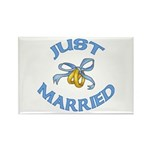 Pretty Just Married Rectangle Magnet (10 pack)