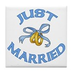 Pretty Just Married Tile Coaster