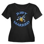 Pretty Just Married Women's Plus Size Scoop Neck D