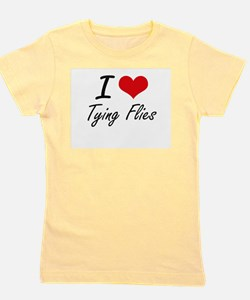 I love Tying Flies Girl's Tee