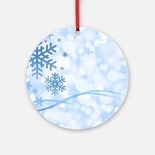 Snowflakes Round Ornament