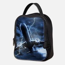 Airplane Lightning Neoprene Lunch Bag