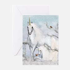 Winter Robins & Unicorns Greeting Cards (Pk of 20)