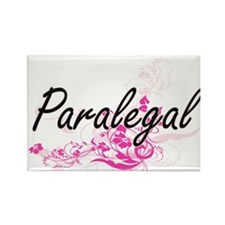 Paralegal Artistic Job Design with Flowers Magnets